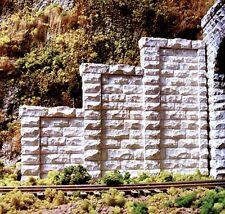 Chooch (N-Scale)  #9801 Cut Stone Stepped Abutment - Package of 2 - NIB