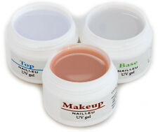 PROFILINE Camouflage Gel Set 3x7ml/ Make-Up Aufbaugel Haftgel Versiegelungsgel