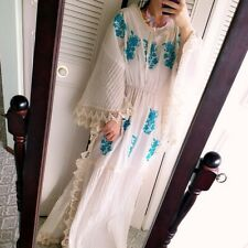 vintage embroided maxi boho dress