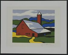 "Roy Lichtenstein ""Red barn"" Lithograph plate signed"