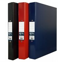 A4 Metal Rinbinder File Hardback Handy Paper Letter Storage Document Folder VAT