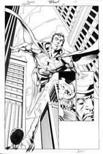 Trinity #20 DC 2008 (Original Art) Splash Page 12 - Mark Bagley Superman Batman