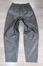"VINTAGE verde pelle stile biker moto Pantaloni Pantaloni Jeans Taglia W25"" L27"""