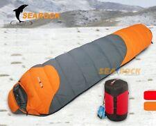 Searock 800g White Duck Down Sleeping Bag mummy -20 degrees -Orange