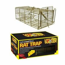 More details for galvanised steel rat cage trap non kill humane catch and release pest01