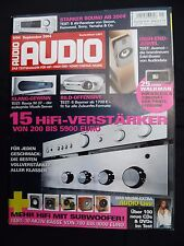 Audio 9/04 Revel SUB 30, Audio Physic Minos, b&w ASW 750, canton AS 50 sc, Nubert AW