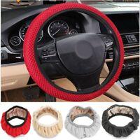 38cm Universal Car Auto Steering Wheel Cover Non Slip Skidproof Elastic Fabric