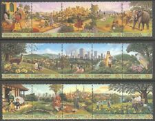 U.N. Mnh 1996 City Summit Strips of 5 From All Three Offices