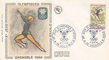 France 1968 1546 FDC Grenoble Jeux Olympiques Patinage artistique