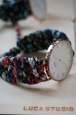 DW Watch Band, Cloth Floral cord, Daniel Wellington Watch Band 36mm & 40 mm