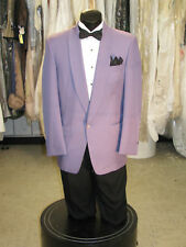 VINTAGE MIAMI VICE FLAMINGO PURPLE TUXEDO JACKET 4PC 40L