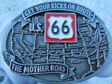Route 66 Gürtelschnalle Mother Road.
