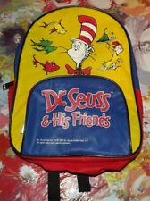 Dr. Seuss & His Friends Cat in the Hat Vintage 1997 Mini Backpack Book Bag