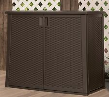 Storage Deck Box Outdoor Container Bin Chest Patio Suncast Brown Wicker Cabinet