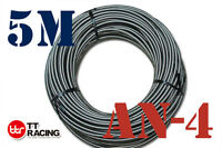 """1/4"""" STAINLESS STEEL BRAIDED 1000 PSI -4AN AN4 4-AN OIL FUEL LINE HOSE 5M Meter"""