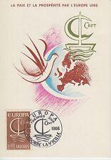 CARTE MAXIMUN ANDORRE  TIMBRE N° 178  EUROPA  COLOMBRE