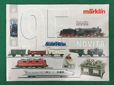 (R11) MARKLIN CATALOGO NOVITA' 1995 (ITA) HO 60 JAHRE Treno Locomotive Carrozze