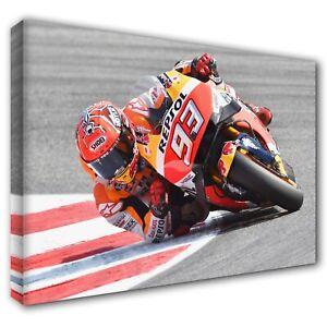 MARC MARQUEZ Honda MOTOGP ~ Framed Canvas Print Wall Art Photo Picture ~ 5 Sizes