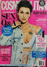 Cosmopolitan March 2017 Ruby Rose Orgasms Made Easy Sex Q & A FREE SHIPPING sb