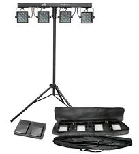 CHAUVET MINI-4BAR 2.0 Mobile LED DJ Stage Wash Light System w/Tripod & Carry Bag