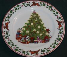 LANG/Susan Winget Salad Plate: Christmas Tree from Sleigh Ride Collection
