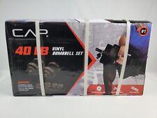 Brand New CAP 40 Lb Adjustable Vinyl Dumbbell Weight Set 40 Pounds Ships Instant