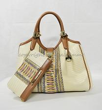 SET of Brahmin Elisa Satchel/Shoulder Bag + Suri Wallet in Yellow Canyon. WOW!