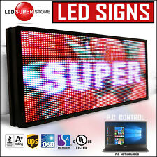 """LED SUPER STORE: Full Color 12""""x60"""" Programmable MSG. Scrolling EMC Outdoor Sign"""