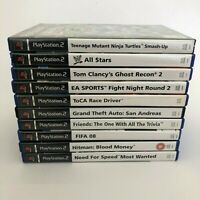 10 Playstation 2 (Sony PS2) Games Lot - Bundle