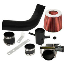 Fit 95-99 Nissan Maxima Racing Cold Air Induction Intake System Black + Filter