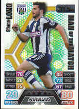 MATCH ATTAX 13/14 Shane Long WEST BROMWICH ALBION Man Of The Match Card No.417