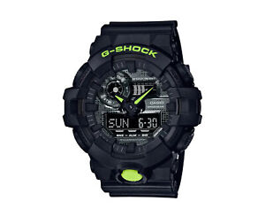 Casio G-Shock GA700 Digi Camo Front Button A/D Resin Blk/Lime Watch GA700DC-1A