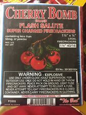 Cherry Bomb Label  Super Charged Crackers Firecracker Brick 1 1/2 40/16 Look !!