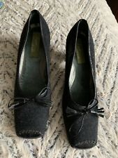 Naked Feet Shoes Signature Women's Size 8B Heels Loafers Tassel Charcoal/Blk