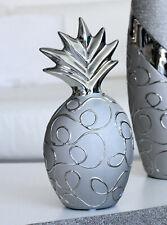 Gilde Keramik Ananas Stella Silver silber Höhe 25,0 cm 43981
