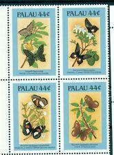 FARFALLE & FIORI - BUTTERFLIES & FLOWERS PALAU 1987 block