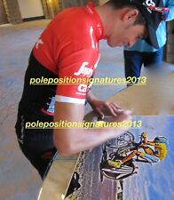 Alberto Contador signed 2009 Team Astana Yellow Cycling 16x20 Tour De France