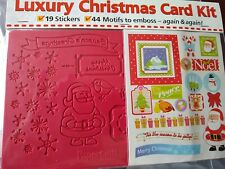 Luxury Christmas Card Kit, Embossing Board And Stickers
