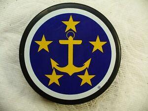 ECHL Hampton Roads Admirals Anchor/Stars Red League Hockey Puck Collect Pucks