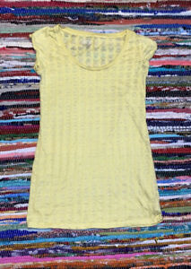 No Boundaries Sleepwear Yellow Nightgown/dress Skulls XS Burnout Very Cute!