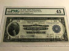 1918 $1 Federal Reserve Bank Note Philadelphia PMG 45 EPQ Fr. 717