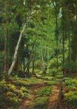 EDWARD HAYDEN- NY Realist-Original Signed Oil Painting-Woods/Forest Landscape