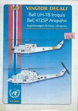 Bell UH-1B Iroquis Bell 412SP Arapaho Norwegian - UN Service 1/72 Vingtor 72006
