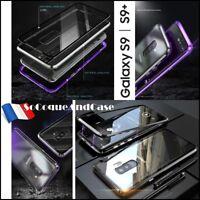 Etui coque Bumper Magnétique Dos Verre Trempé Glass Case Samsung Galaxy S9 / S9+
