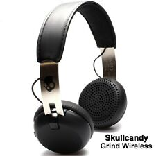 Skullcandy Grind Bluetooth Wireless On-Ear Headphones with Mic Black Silver NEW