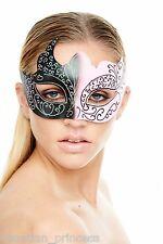 Pink Black Venetian Mask Masquerade Laser Cut Mardi Gras Wedding Prom PM002BKPK