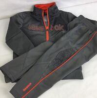 Reebok Track Suit 2 Piece Jacket & Sweatpants Toddler Boys 24M Athletic Grey EUC