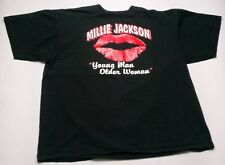 Vintage 1991 Millie Jackson Young Man Older Woman Lips T-Shirt Black XL 90s