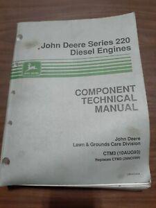 JOHN DEERE SERIES 220 DIESEL ENGINES COMPONENT TECHNICAL MANUAL CTM3