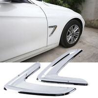 Pair Chrome Side Wing Fender Air Vent Grill Trim For BMW X5 F15 14-16 Universal